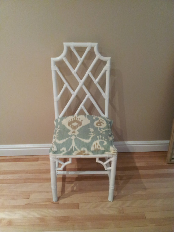 Serial Indulgance on Etsy Vintage Bamboo Chair.